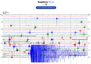 Seismograph trace